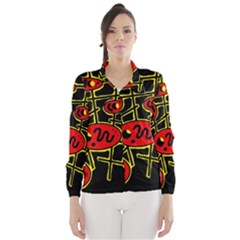 Red and yellow hot design Wind Breaker (Women)