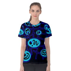 Blue decorative design Women s Cotton Tee