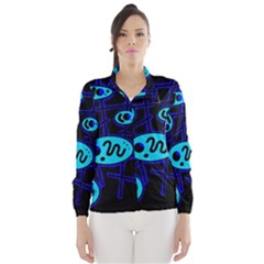 Blue decorative design Wind Breaker (Women)