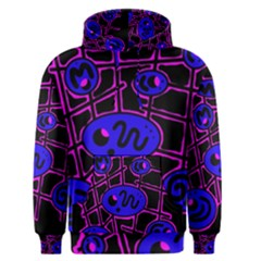 Blue and magenta abstraction Men s Pullover Hoodie