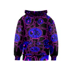 Blue and magenta abstraction Kids  Zipper Hoodie