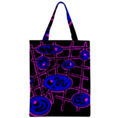 Blue and magenta abstraction Zipper Classic Tote Bag