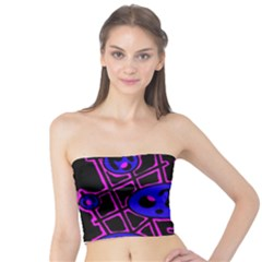 Blue and magenta abstraction Tube Top