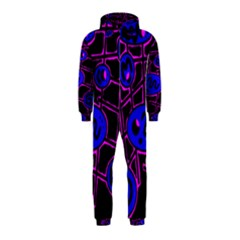Blue and magenta abstraction Hooded Jumpsuit (Kids)