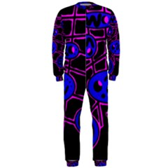 Blue and magenta abstraction OnePiece Jumpsuit (Men)