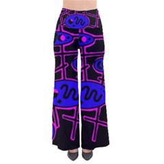 Blue and magenta abstraction Pants
