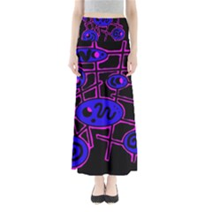 Blue and magenta abstraction Maxi Skirts