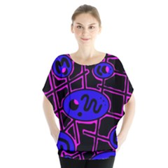 Blue and magenta abstraction Blouse