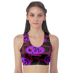 Purple and red abstraction Sports Bra