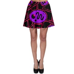 Purple and red abstraction Skater Skirt