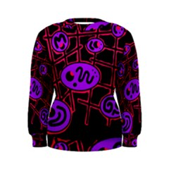 Purple and red abstraction Women s Sweatshirt