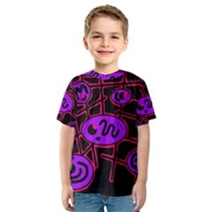 Purple and red abstraction Kid s Sport Mesh Tee