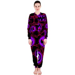 Purple and red abstraction OnePiece Jumpsuit (Ladies)