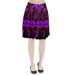 Purple and red abstraction Pleated Skirt