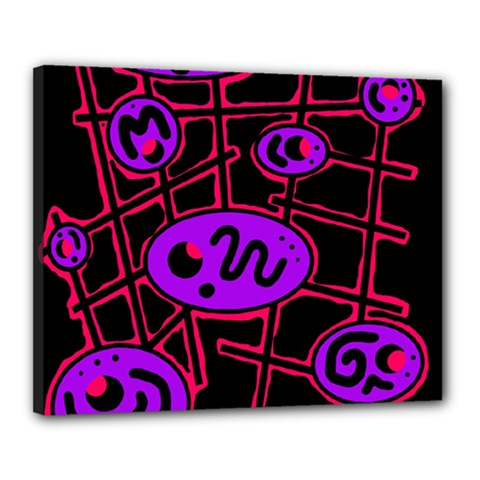 Purple and red abstraction Canvas 20  x 16
