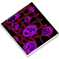 Purple and red abstraction Small Memo Pads