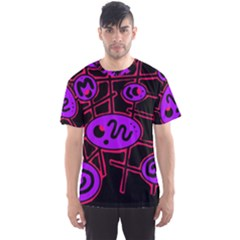 Purple and red abstraction Men s Sport Mesh Tee