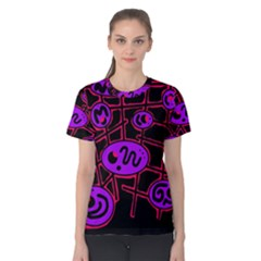Purple and red abstraction Women s Cotton Tee