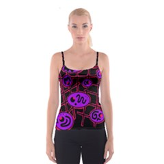 Purple and red abstraction Spaghetti Strap Top