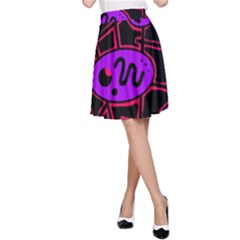 Purple and red abstraction A-Line Skirt