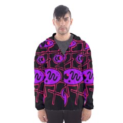 Purple and red abstraction Hooded Wind Breaker (Men)
