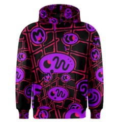 Purple and red abstraction Men s Pullover Hoodie