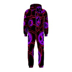 Purple and red abstraction Hooded Jumpsuit (Kids)