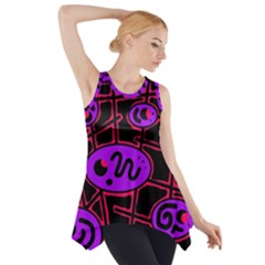 Purple And Red Abstraction Side Drop Tank Tunic