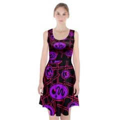 Purple and red abstraction Racerback Midi Dress