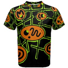 Orange and green abstraction Men s Cotton Tee