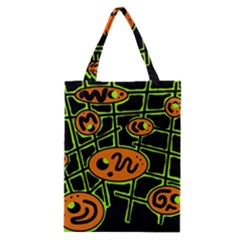 Orange and green abstraction Classic Tote Bag
