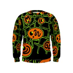 Orange and green abstraction Kids  Sweatshirt