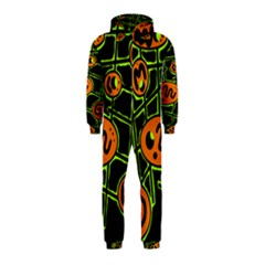 Orange and green abstraction Hooded Jumpsuit (Kids)
