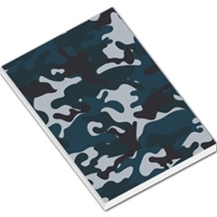 Blue Camo Pattern Large Memo Pads