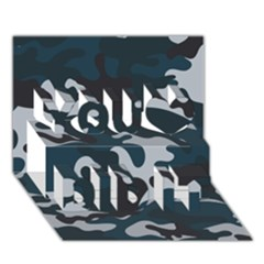 Blue Camo Pattern You Did It 3D Greeting Card (7x5)