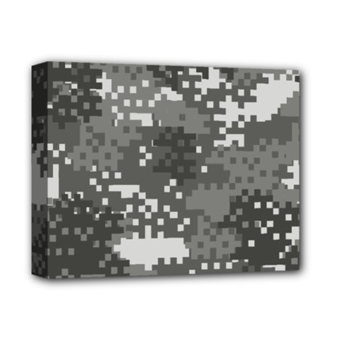 Pixel White Urban Camouflage Pattern Deluxe Canvas 14  x 11