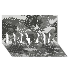 Pixel White Urban Camouflage Pattern BEST SIS 3D Greeting Card (8x4)