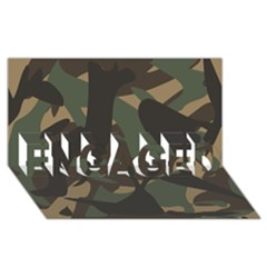 Woodland Camo Pattern ENGAGED 3D Greeting Card (8x4)