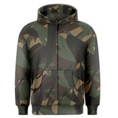 Woodland Camo Pattern Men s Zipper Hoodie