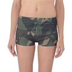Woodland Camo Pattern Reversible Boyleg Bikini Bottoms