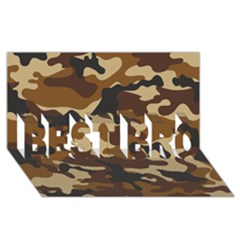 Brown Camo Pattern BEST BRO 3D Greeting Card (8x4)