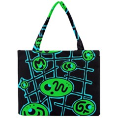 Green and blue abstraction Mini Tote Bag