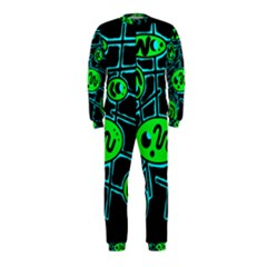 Green and blue abstraction OnePiece Jumpsuit (Kids)
