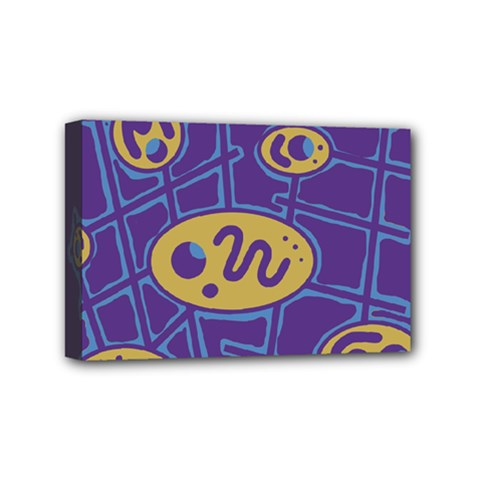 Purple and yellow abstraction Mini Canvas 6  x 4
