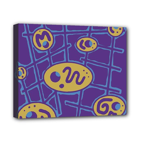 Purple and yellow abstraction Canvas 10  x 8