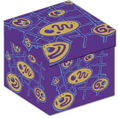 Purple and yellow abstraction Storage Stool 12