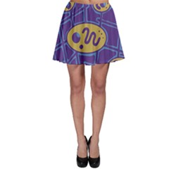 Purple and yellow abstraction Skater Skirt