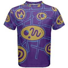 Purple and yellow abstraction Men s Cotton Tee