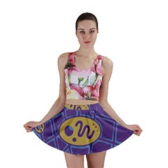 Purple and yellow abstraction Mini Skirt