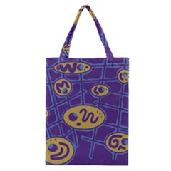 Purple and yellow abstraction Classic Tote Bag